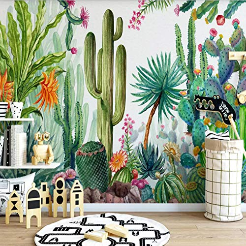 Fototapete Tapeten 3D 350X256Cm Kaktusbaum Der Grünen Pflanze Tapete Fototapeten Xxl Tapeten Vliestapete Wandtapete Moderne Wandbild Wand Schlafzimmer Büro Flur