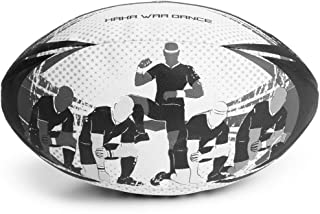 Crown Sporting Goods Haka War Dance Rugby Match Ball | Official Size 5 Ball with Textured Grip | New Zealand Men in Black Maori Challenge Design | Great for Match, Practice, Scrimmage Play
