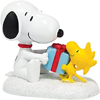 "Department 56 Peanuts Village Snoopy and Woodstock ""For My BFF"" Accessory, 1.38 inch"