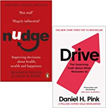 Nudge: Improving Decisions About Health, Wealth and Happiness & Drive: The Surprising Truth About What Motivates Us 2 Book...