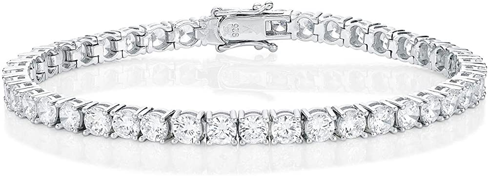 Diamond treats bracciale tennis per donna in argento sterling 925 con zirconi bianchi super brillanti da 4 mm YHB21441-65/2040SW