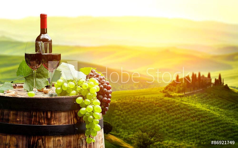 El ultimo 2018 Druck-shop24 - - - Impresión sobre lienzo, póster de fotos (cristal acrílico, lámina adhesiva), diseo de vino rojo con barril en Vineyard, Color verde, vídrio acrílico, 3 2 - 60 x 40 cm   40 x 60 cm  Ahorre 60% de descuento y envío rápido a todo el mundo.