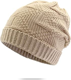 MZHHAOAN Knit Hat Autumn and Winter Knitted Cap Ladies Fashion Korean Student Cap Outdoor Windproof Warm Cap,Grey,M56-58cm