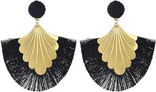 Black Onyx PETIT LUSTRE VINTAGE Dangle Boucles d/'oreilles ~ acier inoxydable Crochets