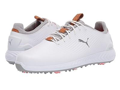 PUMA Golf Ignite Power Adapt Leather (White/White) Men