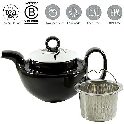 THE TEA SPOT, Deco Teapot with Infuser | 20 oz ...