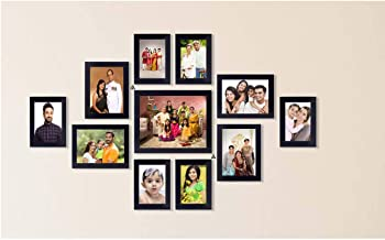 AG Crafts™ Wall 11 Collage Photo Frames Black (Black)
