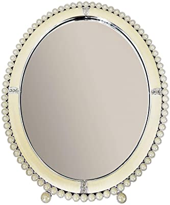 RAAYA Decorative Pearl Mirror for Wall, Living Room, Bathroom, Bedroom, Decoration