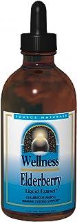 Source Naturals Wellness Elderberry Liquid Extract, Immune System Support, 2 Fluid Ounces, Pack of 2