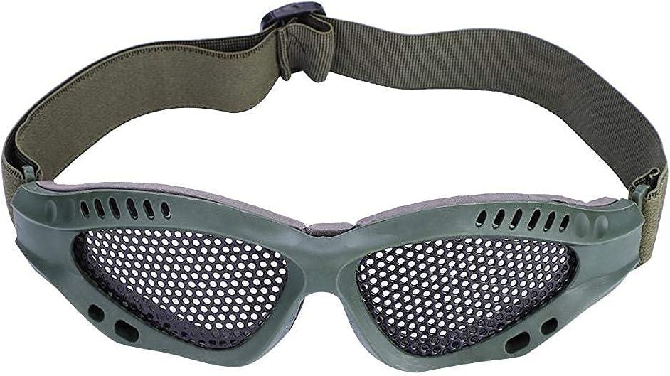 Deror VGEBY1 Gafas de protección táctica, 1 par de Gafas tácticas Airsoft, Gafas de Malla de Seguridad Militar, Gafas de Tiro para Caza, Tiro CS, Juego (6.7x2.0X 2.0in
