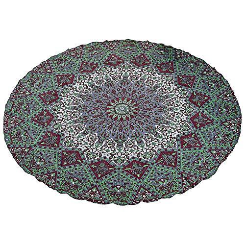 Stylo Culture Indien Ethnique ronderie Mandala Throw Tapisserie Star Vert Marron 72\