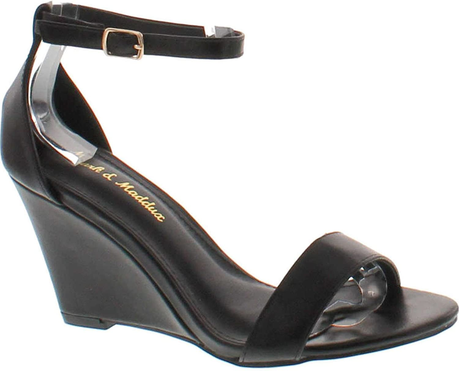Mark And Maddux Elisha-13 Wedge Sandal In Black