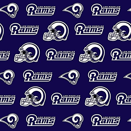 """Los Angeles Rams Football NFL 58"""" Wide Fabric by The Yard"""