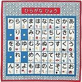HAMAMONYO Furoshiki(20 in.) 'Japanese Syllable Table'