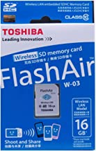 Toshiba Flash Air - Tarjeta SD de 16 GB (Clase 10, Wi-Fi)