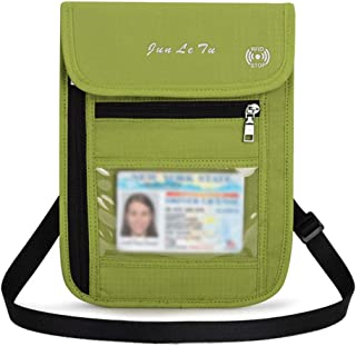 Jiyaru Travel Wallets Rfid Blocking Passport Holder Neck Wallets Document Orignizer
