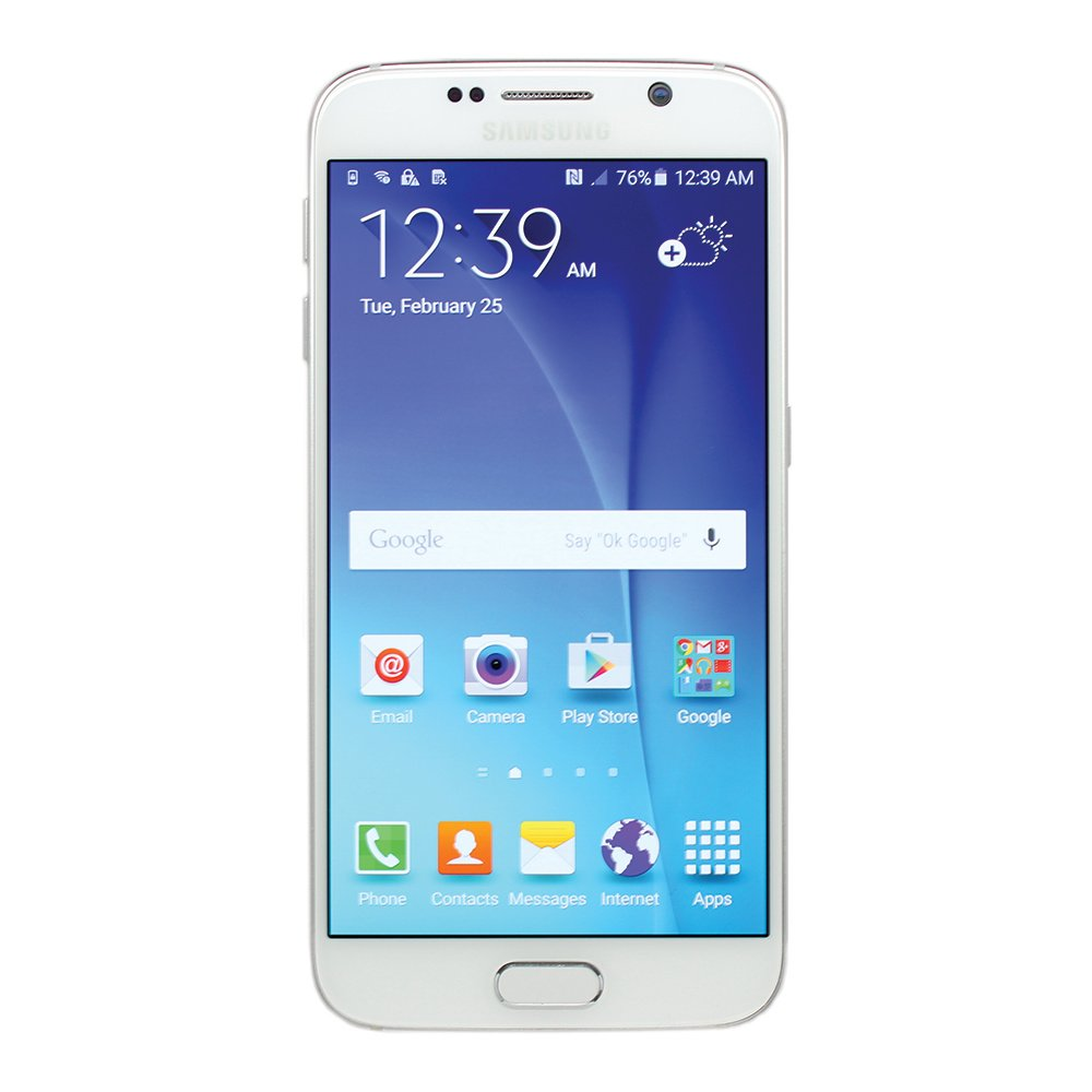 Samsung Galaxy S6 White 32GB Smartphone (Reacondicionado): Amazon ...