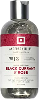 ANDERSON LILLEY Black Currant & Rose Wash, Red, 8 Ounce
