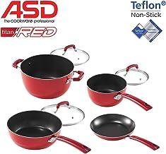 ASD TITAN RED 7-PC COOKWARE SET