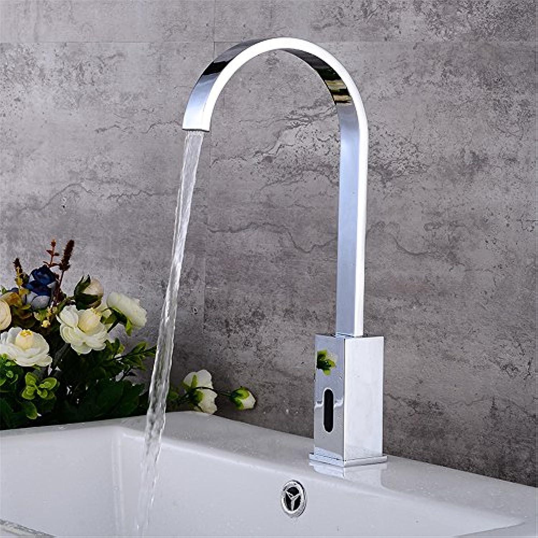 FHLYCF europischen stil moderner bauart gemischte wasser induktion wasserhahn, voller kupfer waschbecken wasserhahn wasserhahn