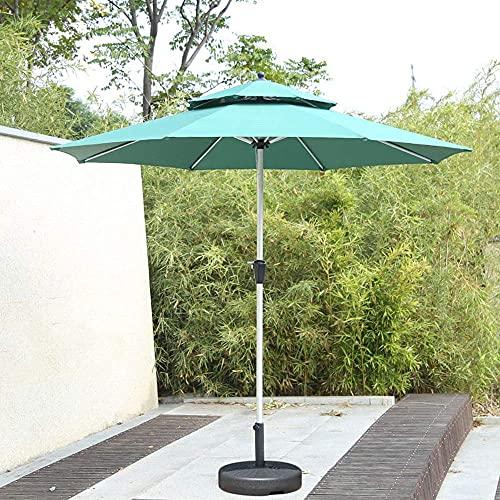 H-BEI 2.7M Sombrilla de jardín con terraza de Techo Doble para Exteriores, Sombrilla de Patio portátil, Muy Adecuada para jardín, Mercado de Actividades comerciales en la Playa, Camping,