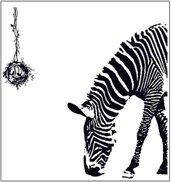 Tcplyn 艺术贴花 DIY 自粘 3D 斑马斑马墙壁装饰墙贴 PVC 墙纸贴纸 DIY 壁画艺术幼儿园卧室儿童房