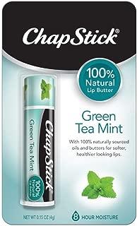 ChapStick 100% Natural Lip Butter, Green Tea Mint, 0.15 oz (Pack of 3)