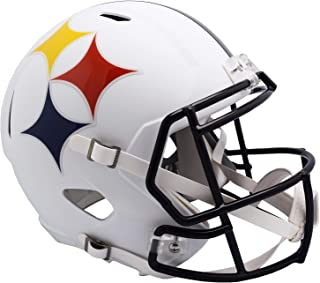 One Size Riddell NFL Pittsburgh Steelers Helmet Replica Mini VSR4 Style 75th Anniversary Throwback 2007 Gold Team Color