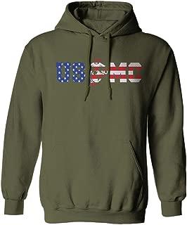 USMC Marine Corp Seal American Flag Logo USA America Hoodie