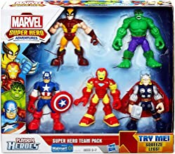 Playskool Heroes, Marvel Super Hero Adventures, Super Hero Team Pack [Wolverine, Hulk, Captain America, Iron Man, and Thor]