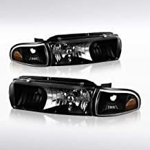 Autozensation For Chevy Caprice/Impala Black Headlights Corner Turn Signal Lamps 4PC