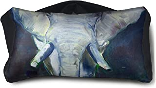 Eye Pillow Elephant Oil Painting Designer Womens Portable Blindfold Sleeping Eye Bag Mask