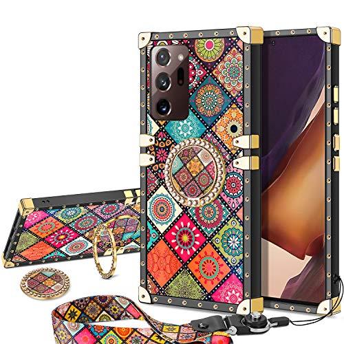 Vunake - Carcasa para Samsung Galaxy Note 20 Ultra, con cinta y anillo de soporte, compatible con soporte magnético para el coche, para Samsung Galaxy Note 20 Ultra