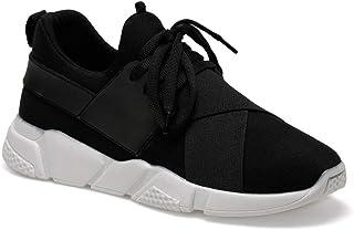 CS20009 Siyah Kadın Slip On Ayakkabı