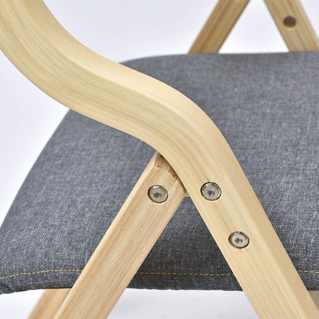 Chaise pliante Dossier Chaise En Bois Chaise de Salle À Manger Figure Figure À La Mode En Bois Naturel Couverture Personnelle Avec Lavage Possible (Couleur : Color-3) Color-5