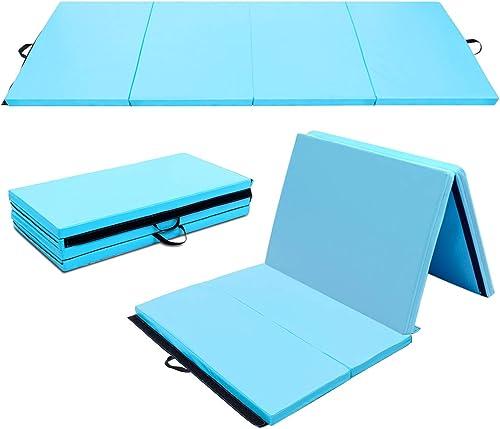 """BestMassage Gymnastics Mat Gym Mat Tumbling Mat 6/'x2/'x2"""" Lightweight Foldable"""