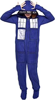 Doctor Who Tardis Hooded Onesie Pajama with Hood