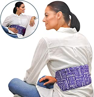 Heat Therapy Pack – Everywhere Wrap - Microwaveable Heating Pad for Back Pain, Cramps, Reusable Hot Therapy Pack by HTP Relief (Purple)