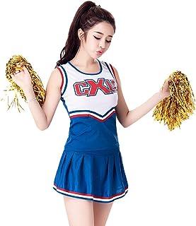 女性用ノースリーブチアリーディングコスチューム A-単語スカートサッカーの赤ちゃんの服のショー、 バーのds衣装、 ハロウィーン/ロールプレイング/ダンスコンクールに適しています