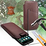 i-Tronixs (Brown 152 x 73mm) Pouch case for Bluboo Dual 5.5