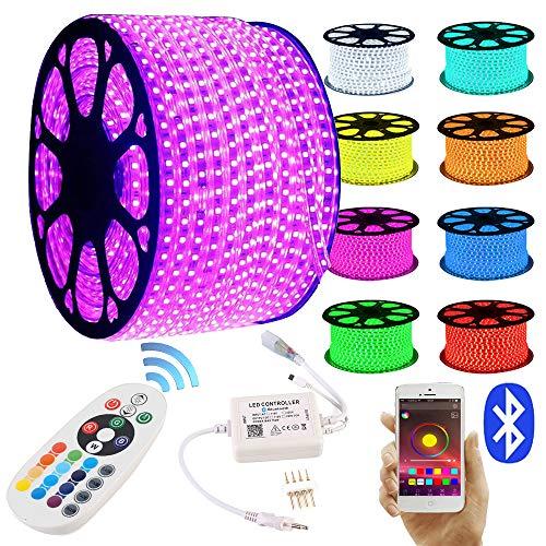 GreenSun LED Lighting LED Strip RGB 10M LED Licht Streifen SMD 5050 60Leds/M mit 24 Tasten Bluetooth Fernbedienung Led stripes Lichtband Leiste Band Beleuchtung Lichterkette Lichterschlauch