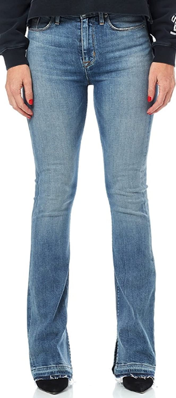 HUDSON Women's Jean Heartbreaker High Rise Bootcut Jeans Shock Waves WHL122DHZ Shck