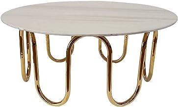 "3.15"" Modern Coffee Tables/End Tables Designer Side Table, Marble Desktop & Stainless Steel Basket, Living Room Bedroom Co..."