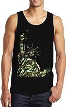 SpiritForged Apparel Camo Lady Liberty Holding Gun Men's Tank Top