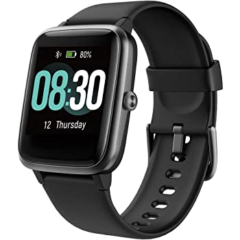 Smartwatch Uomo, UMIDIGI Uwatch3 Orologio Fitness Tracker Bluetooth Smart Watch Android iOS Cardiofrequenzimetro da Polso Contapassi Impermeabile 5ATM Activity Tracker per Donna Uomo Bambini - Nero