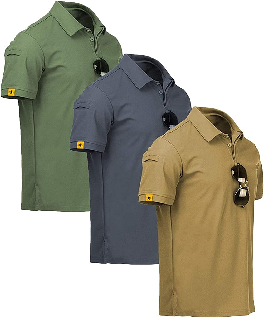 Depslee Men's Summer Direct sale of manufacturer Polo Shirt,Quick-Drying C Factory outlet Sweat-Absorbent