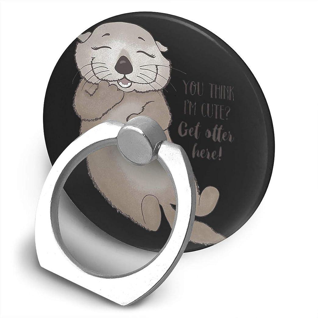 二週間ガイドトレイカワウソ 360度回転 携帯リング スタンド スマホスタンド ホルダー 薄型 指輪 リング 携帯アクセサリースタンド機能 落下防止