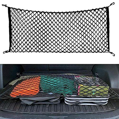 JOINAP Floor Style Trunk Cargo Net for 2020 Toyota RAV4 2013 2014 2015 2016 2017 2018 2019 31 x 24 Inches with 4 Mounting Hooks