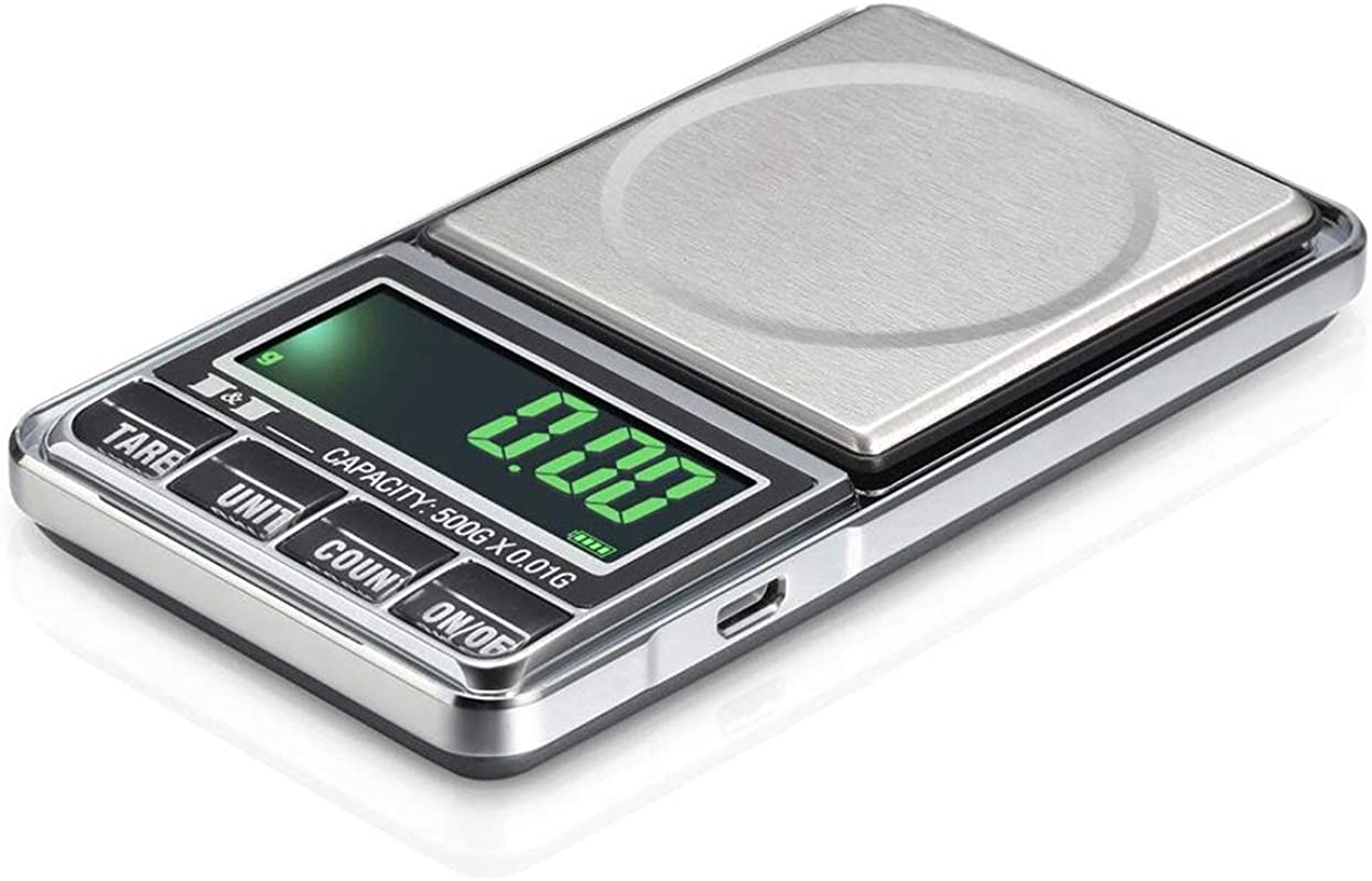 Digital Pocket Kitchen Multifunction Food Scale For Bake Jewelry Weight Stainless Steel Silver Capacity 1000G 0 1G