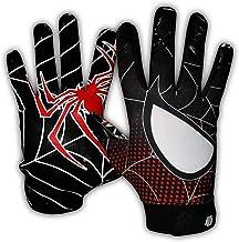 Taqcha Football Gloves-Tacky Grip Skin Tight Adult Football Gloves-Enhanced Performance Football Gloves Men-Pro Elite Supe...